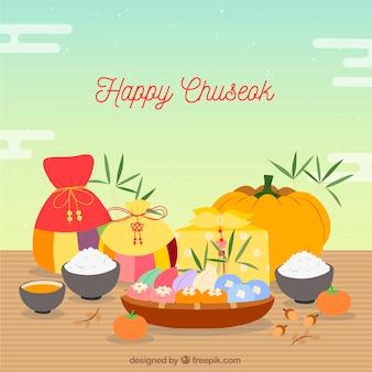 Hintergrund für chuseok-festival