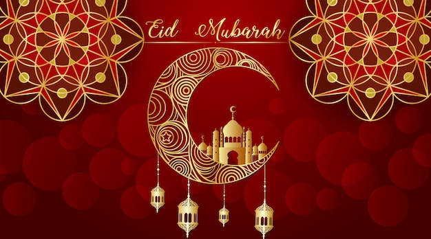 Hintergrund für das muslimische festival eid mubarak