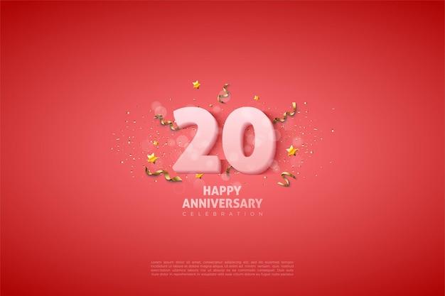 Hintergrund für den 20. anivversary mit einem kleinen bild dahinter