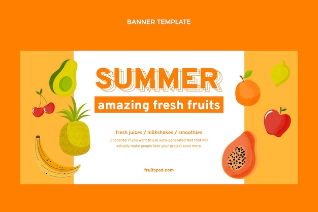 Hintergrund für den verkauf von flachen früchten