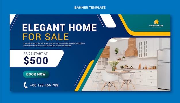 Hintergrund für den verkauf von immobilien mit farbverlauf