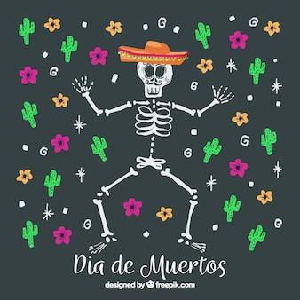 Hintergrund für día de muertos