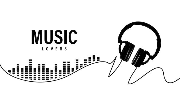 Hintergrund für musikliebhaber. vektor-illustration