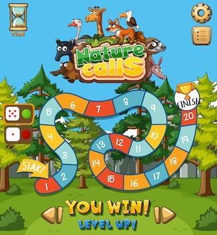 Hintergrund für spiel mit tieren und feld
