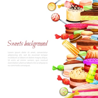 Hintergrund für süße speisen