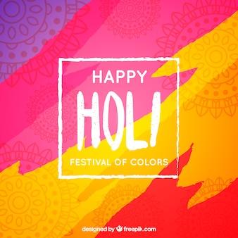 Hintergrund glückliches holi festival von farben