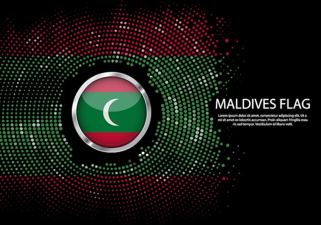 Hintergrund-halbton-steigungsschablone von malediven-flagge.