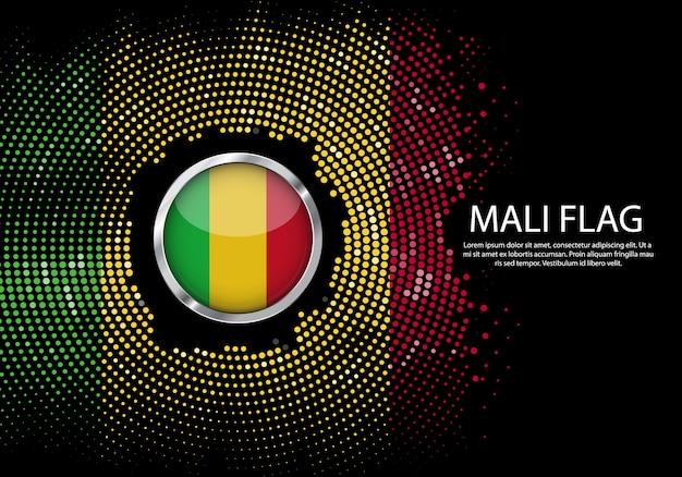 Hintergrund-halbton-steigungsschablone von mali-flagge.