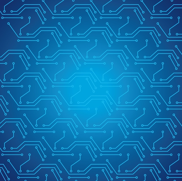 Hintergrund-illustrationsentwurf des elektronischen musters der cyberschaltung