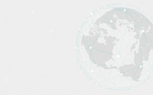Hintergrund-illustrationsvektor der weltweiten verbindung grauer