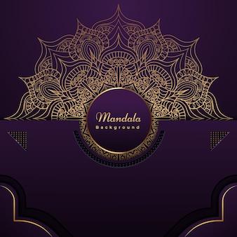 Hintergrund im islamischen stil des königlichen mandalas