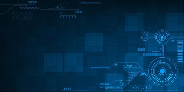 Hintergrund im konzept der technologie.