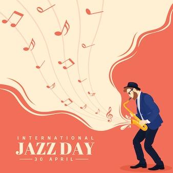 Hintergrund internationaler jazz tag