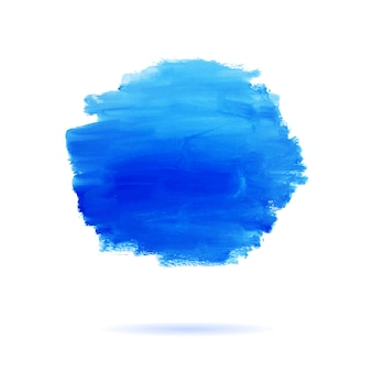Hintergrund ist ein gemalter blauer punkt