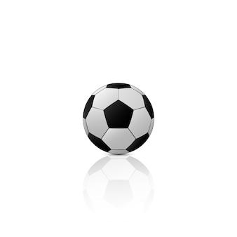 Hintergrund konzept schwarzer fußball