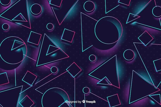 Hintergrund mit 80 arten mit geometrischen formen