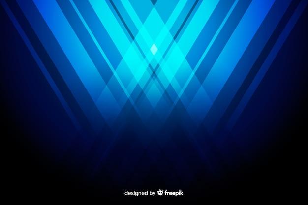 Hintergrund mit abstrakten blauen formen