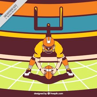 Hintergrund mit amerikanischen fußball illustration