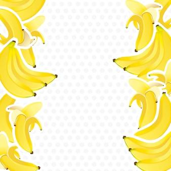 Hintergrund mit bananenbündeln verziert