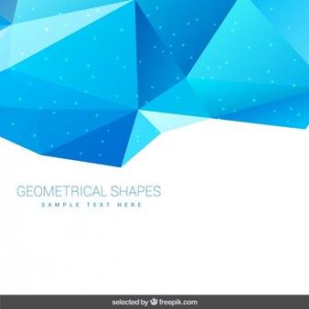 Hintergrund mit blauen geometrischen formen