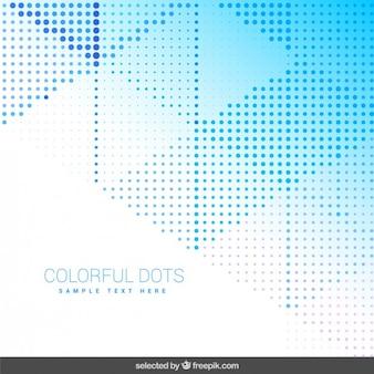 Hintergrund mit blauen gepunkteten formen