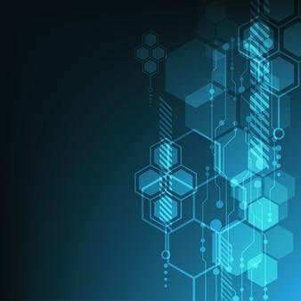 Hintergrund mit blauen hexagones