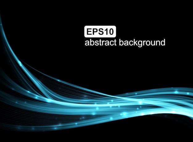 Hintergrund mit blauen leuchtenden linien.