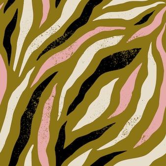 Hintergrund mit buntem zebrahautmuster. trendige handgezeichnete texturen.