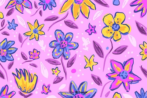 Hintergrund mit bunten gemalten blumen