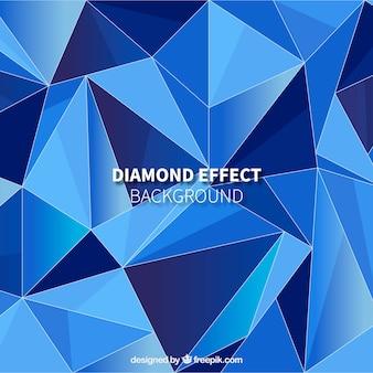 Hintergrund mit diamanteffekt in den blauen tönen