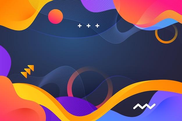Hintergrund mit dynamischen formen mit farbverlauf