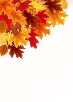 Hintergrund mit ecke von fallendem autumn leaves
