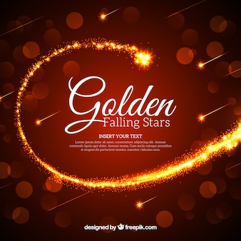 Hintergrund mit einem goldenen kometen
