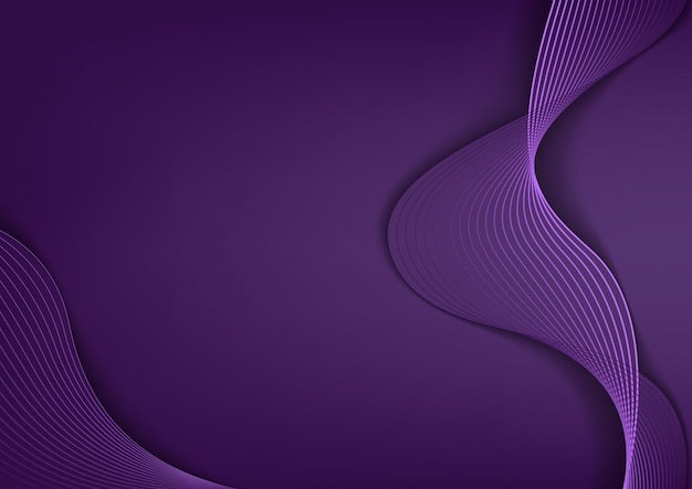 Hintergrund mit eleganten lila linien