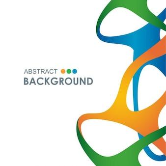 Hintergrund mit farbigen formen in abstrakten stil