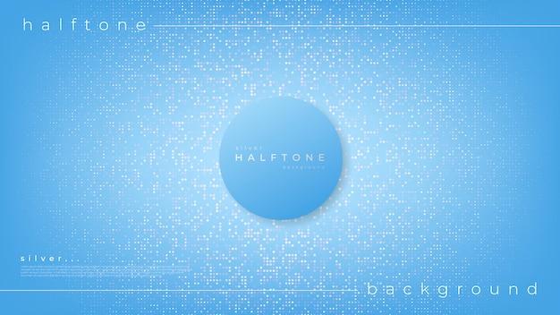 Hintergrund mit farbverlauf halbton-design weiße punkte und zentrierter kreis