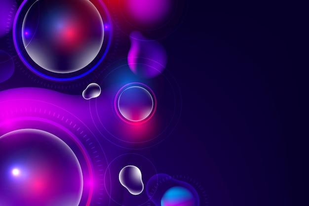 Hintergrund mit farbverlauf im futuristischen stil