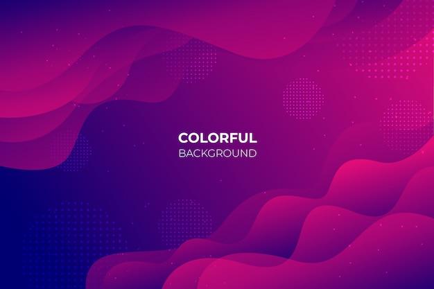 Hintergrund mit farbverlauf mit abstrakten formen