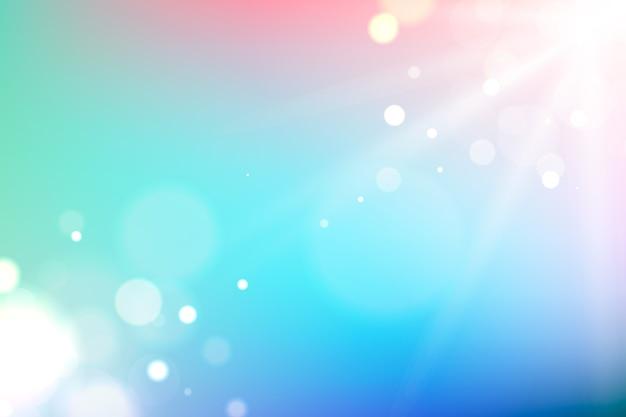 Hintergrund mit farbverlauf mit bokeh-effekt
