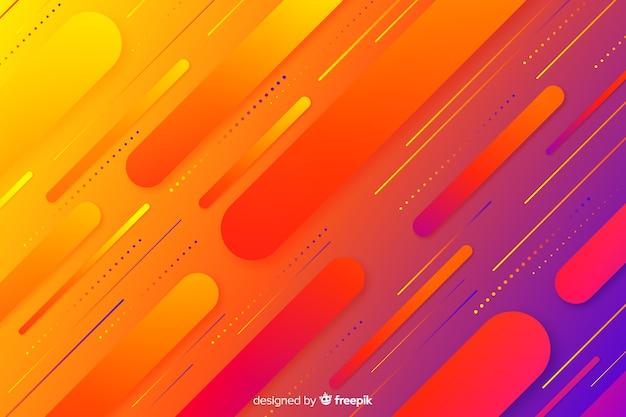 Hintergrund mit farbverlauf mit dynamischen formen