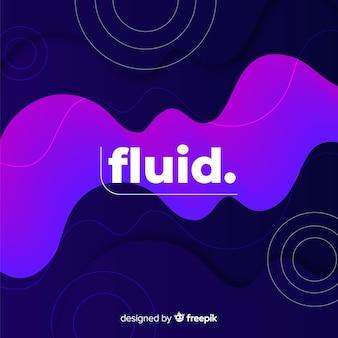 Hintergrund mit farbverlauf mit flüssigen formen