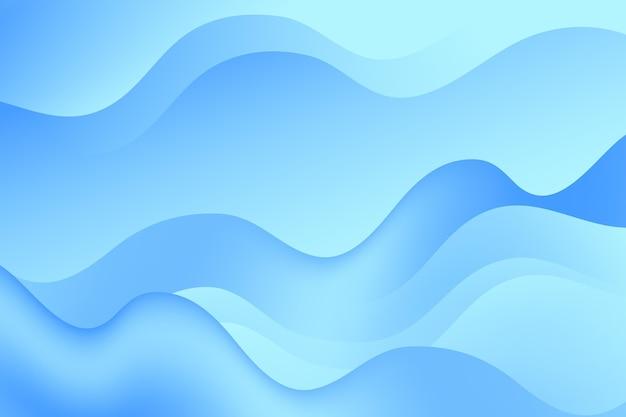 Hintergrund mit farbverlauf mit wellenförmigen formen