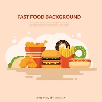 Hintergrund mit fast-food