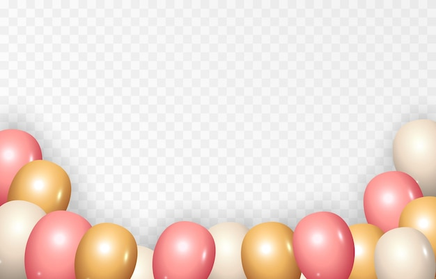 Hintergrund mit festlichen luftballons vektorballons urlaub geburtstag luftballons png
