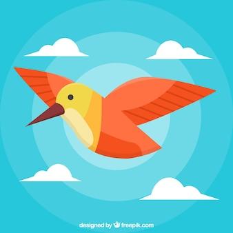 Hintergrund mit flachem vogel
