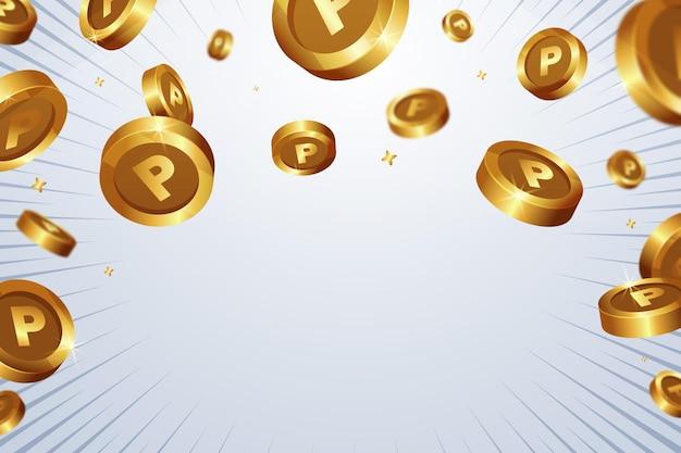 Hintergrund mit flachen punktmünzen