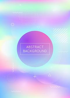 Hintergrund mit flüssigen formen. dynamisches design holographischer flüssigkeiten