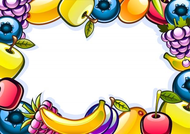 Hintergrund mit früchten
