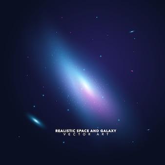Hintergrund mit galaxie-design