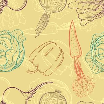 Hintergrund mit gemüse